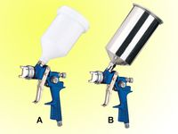 Gravity feed HVLP paint spray gun