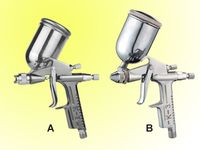 Mini pneumatic spray gun