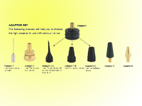 inflating nozzle set