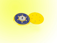 sanding pad with 6 holes