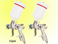pneumatic spray gun digital type
