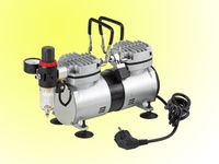 mini oilless compressor with twin cylinder